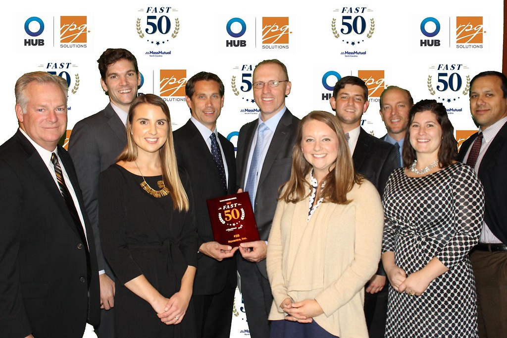 Group photo Nuventra at Fast 50 Awards